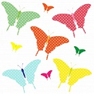 multicolored butterfly clipart